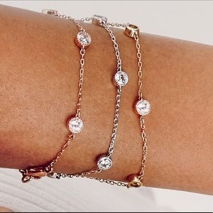 Petits Bijoux silver station bracelet